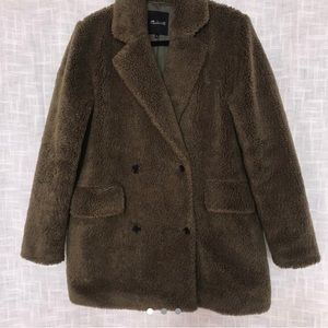 SOLD Madewell faux teddy pea coat